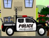 Camion De Police Serve
