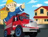 Camion de pompiers d'Urgence Parking