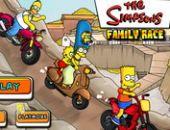 Famille Simpson Course Jeu
