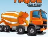 Le Ciment De Stationnement De Camion