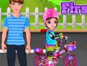 Petite Fille Première Moto en ligne jeu