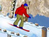 Snowboard de précipiter